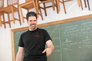 Daniel at Chalkboard
